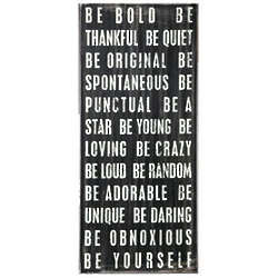 Be Bold Large Wall Hanging