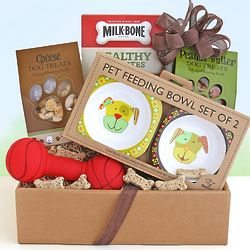 I Love Dogs Gift Basket