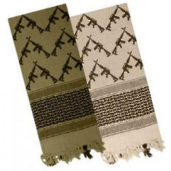Tactical Desert Scarf with Crossed Rifles