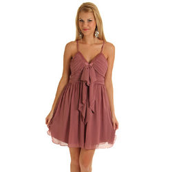 Vintage Chiffon Spaghetti Strap Mini Dress