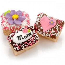 Mother's Day Chocolate Dipped Mini Krispie Treats