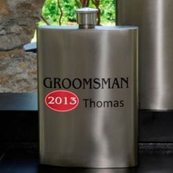 Personalized Red Hot Wedding Attendant Flask