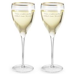 Savoy Gold Rim Wine Glass Set
