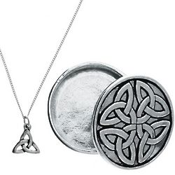 Celtic Wish Box with Trinity Necklace