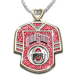 Ohio State Buckeyes Engraved Jersey Pendant