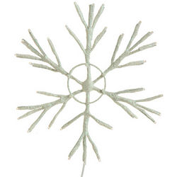 "Wire Lighted 8"" Snowflake"