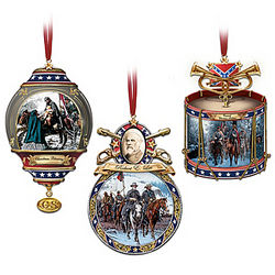 Home For the Holidays Civil War Ornaments