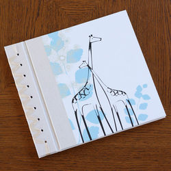 Blue Giraffe Baby's First Memory Book