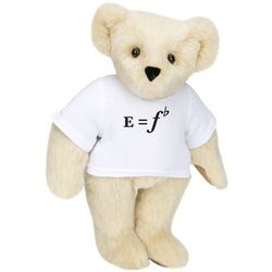 E Equals F Flat T-Shirt Teddy Bear