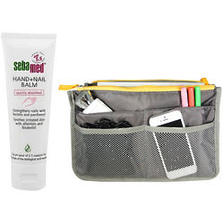 Unisex Bag Insert Organizer and Sebamed Night Intensive Lotion