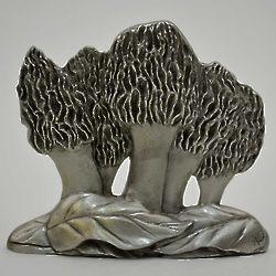 Morel Mushroom Pewter Shelf Accent
