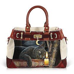 Witching Hour Handbag with Lisa Parker Cat Artwork