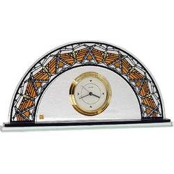 Glass Dana Butterfly Clock
