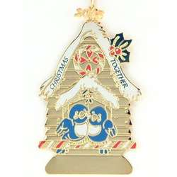 Personalized Christmas Together Love Ornament with Year Charm