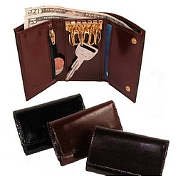 Key Case Wallet with Currency Pocket