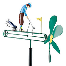 Golf Loving Whirligig