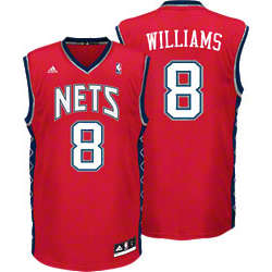Deron Williams #8 New Jersey Nets Red Replica Jersey
