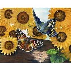 Sunflowers Personalized Art Print