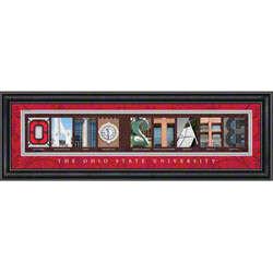 Ohio State Buckeyes Letter Art