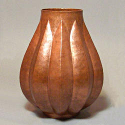 Ribbed Pod Copper Vase