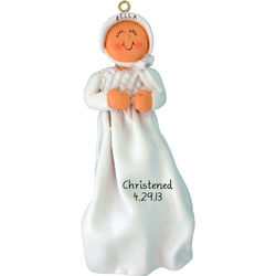 Christening Personalized Baby Girl Ornament