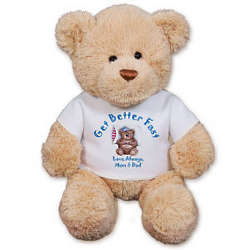 Personalized Get Better Fast Teddy Bear
