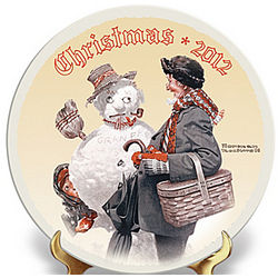 2012 Edition Norman Rockwell Annual Christmas Plate