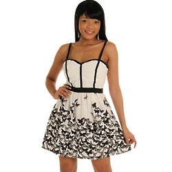 Demure Butterflies Party Dress