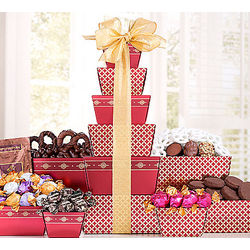 Deluxe Godiva and Rocky Mountain Chocolate Gift Tower