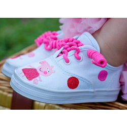 Handpainted Piggie Sneakers