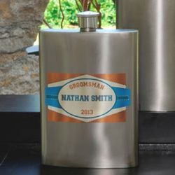 Personalized Private Label Wedding Attendant Flask