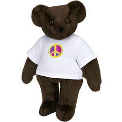 "15"" Colorful Peace Sign T-Shirt Teddy Bear"