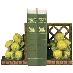 Decorative Lemon Fruit Bookends