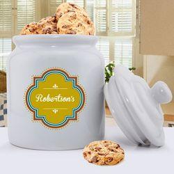 Personalized Vintage Ceramic Cookie Jar