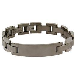 Mens 12mm Titanium ID Bracelet