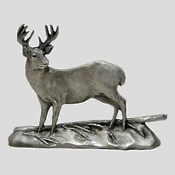 Pewter Whitetail Deer Shelf Accent