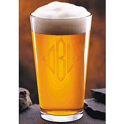 Personalized Crystal Micro Brew Glasses
