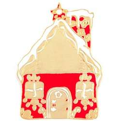 Engraved Christmas Cottage Ornament