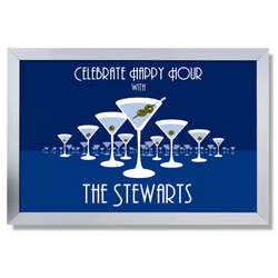 Personalized Martini Horizon Bar Sign