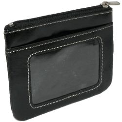 Leather Zippered Coin Purse & Key Chain Card Holder