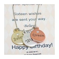 Believe Wish Dream Birthday Necklace