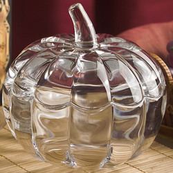 Crystal Pumpkin Bowl with Lid