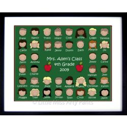 Personalized Teacher's Class Portrait 16 x 20 Framed Print