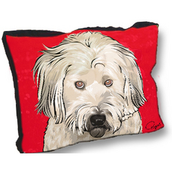 Personalized Pet Portrait Dog Bed