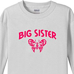 Big Sister Butterfly Kids Long Sleeve T-Shirt