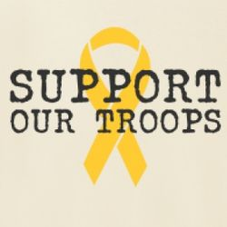 Support Our Troops Yellow Ribbon Women's T-Shirt