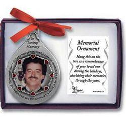 God Saw Him Memorial Photo Ornament