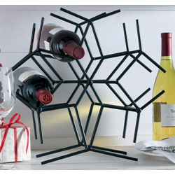 Snowflake 6-Bottle Wine Rack
