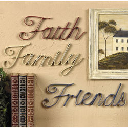 Americana Faith, Family and Friends Wall Decor