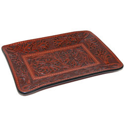 3 D Belt Leather Tooled Valet